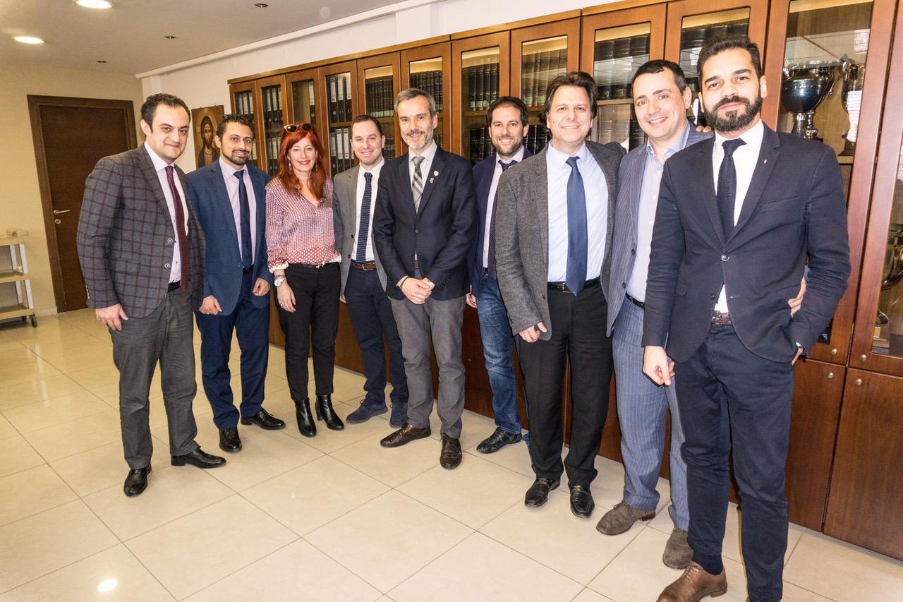 Επίσκεψη στα γραφεία του Δικηγορικού Συλλόγου Θεσσαλονίκης και συνάντηση με τον πρόεδρο Ευστάθιο Κουτσοχήνα
