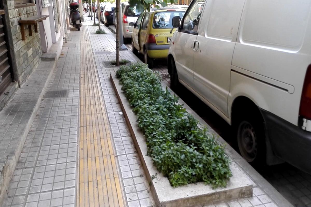 Κήποι της βροχής στην οδό 28ης Οκτωβρίου